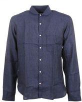 "Oliver Spencer Navy Blue ""eton Collar"" Shirt"