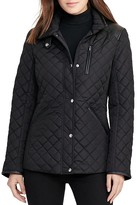 Lauren Ralph Lauren Quilted Faux Leather Trim Jacket