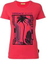 Versace palm tree print T-shirt