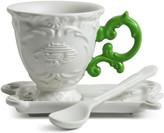 Seletti I-Wares Porcelain Coffee Set - Green