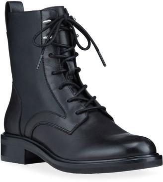 Rag & Bone Slayton Leather Lace-Up Combat Boots