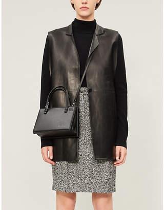 Max Mara Rosita marled wool-blend bouclé skirt