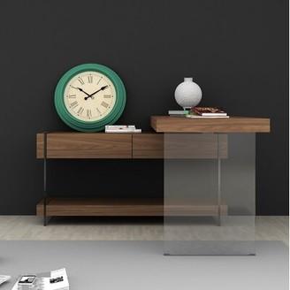 Brayden Studio Brightwood L-Shape Desk Color: Warm Walnut Veneer