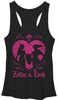 Nintendo Junior's Link Love Zelda Pink Hearts Racerback Tank Top