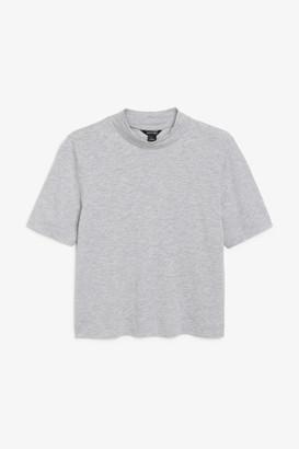 Monki Short-sleeve high neck tee