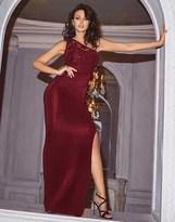 Lipsy Love Michelle Keegan One Shoulder Sequin Detail Maxi Dress