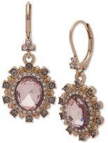 Marchesa Stone & Crystal Oval Drop Earrings