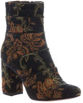Poetic Licence Women's Patchwork Places Ankle Boot - Black Floral Textile Boots