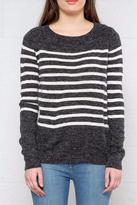 Jacqueline De Yong Striped Ls Pullover