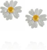 Alex Monroe 22-karat gold-plated daisy stud earrings