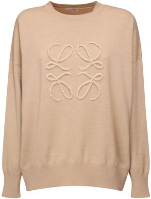 Loewe Anagram Logo Knit Wool Blend Sweater