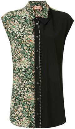 No.21 Floral Print Sleeveless Shirt