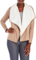 love by design Faux Sherpa-Lined Cardigan