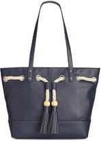 Giani Bernini Pebble Leather Tassel Tote, Created for Macy's