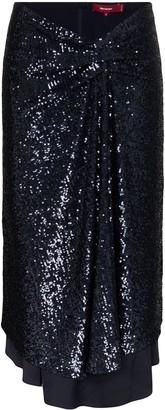 Sies Marjan Kayla sequinned asymmetric midi skirt