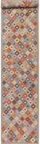 Bungalow Rose Heitzman Southwestern Handmade Kilim Runner 2'8'' x 15'11'' Wool Gray Area Rug
