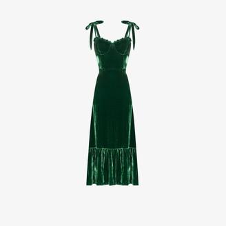 Reformation Antoinette velvet midi dress