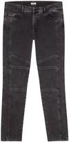 Kenzo Black Faded Biker Jeans