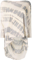 Raquel Allegra tie-dye shredded T-shirt - women - Cotton/Polyester - 1