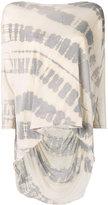 Raquel Allegra tie-dye shredded T-shirt - women - Cotton/Polyester - 2