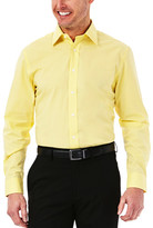 Haggar Solid Poplin Dress Shirt - Regular Fit, Point Collar