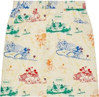 Gucci x Disney Mickey and Minnie skirt