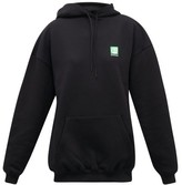 Balenciaga Bb Cotton-fleeceback Hooded Sweatshirt - Womens - Black