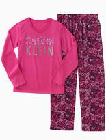 Calvin Klein Girls 2-Piece Logo Floral Sleep Set