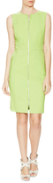 Lafayette 148 New York Addison Cotton Zip Sheath Dress