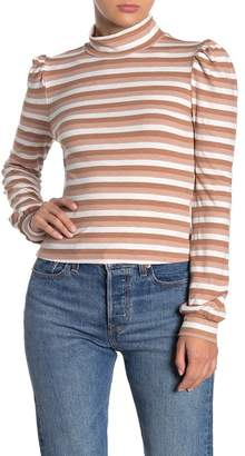 Lumiere Striped Mock Neck Top