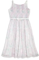 Us Angels Girls' Pleated Mesh Dress - Big Kid