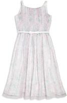 Us Angels Girls' Pleated Mesh Dress - Little Kid