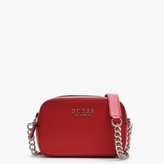 GUESS Robyn Red Textured Camera Bag