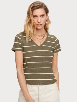 Scotch & Soda Metallic Striped T-Shirt   Women