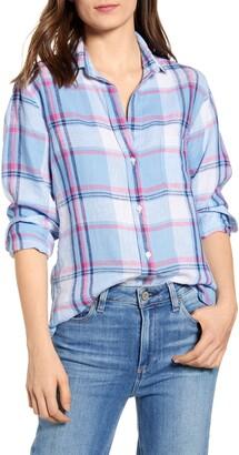 Grayson The Hero Blue Plaid Linen Shirt