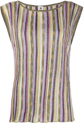 M Missoni Striped Sleeveless Knit Top