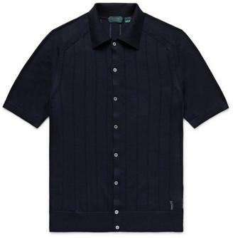 Incotex Slim-Fit Knitted Cotton Shirt