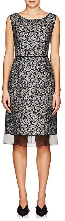 Marc Jacobs WOMEN'S FLORAL BROCADE SLEEVELESS SHEATH DRESS
