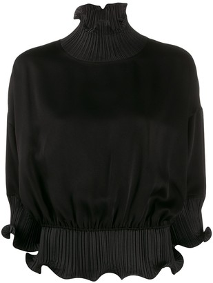 Givenchy Frilled Roll-Neck Blouse