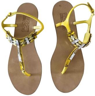 Salvatore Ferragamo Yellow Leather Sandals