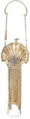 Rosantica Baby Shell Embellished Fringe Clutch