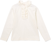 E-Land Kids Ivory Ruffle Top - Toddler & Girls