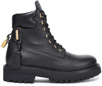 Buscemi Appliqued Textured-leather Ankle Boots