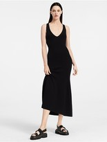 Calvin Klein Ribbed Cashmere Flared Dress