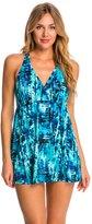 Caribbean Joe Magical Mystery V Neck Swim Dress 8146822