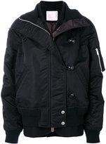 Sacai nylon bomber jacket - women - Nylon/Wool - 3