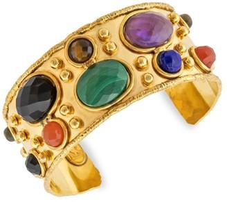 Sylvia Toledano 22K Goldplated & Multi-Stone Cuff Bracelet