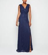 New Look Mela Lace Side Split Maxi Dress