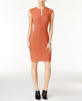 Bar III Split-Neck Bodycon Dress, Only at Macy's