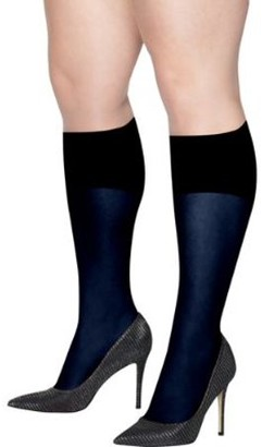 Hanes Womens Plus Size Curves Opaque Knee Highs Style-HSP021